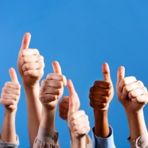 Testimonials thumbs up